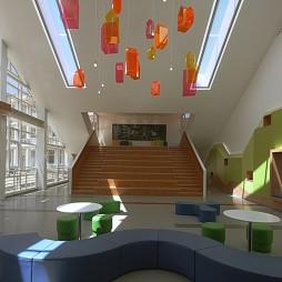 小学教学楼大厅沙发区