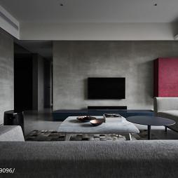 现代风格水泥电视背景墙