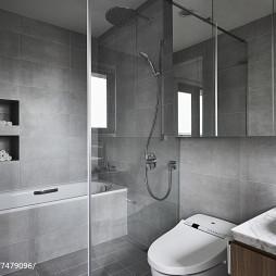 现代风格卫浴隔断玻璃