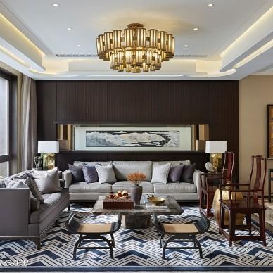 内敛沉静中式客厅设计