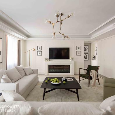 柒筑空間設計——白色翡冷翠,气质美如兰