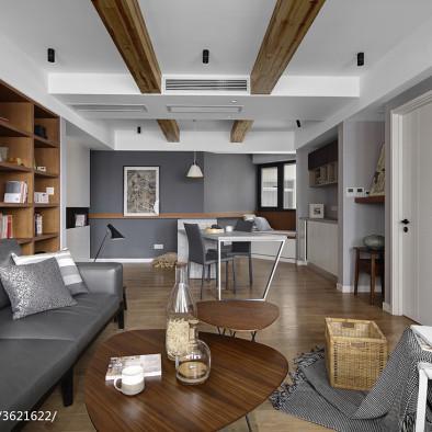 灰色的獨白_北歐客廳設計圖片