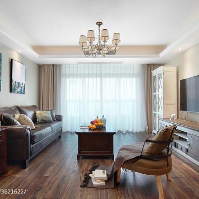 清水灣美式客廳設計圖