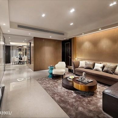 【DHA香港洪德成设计】深圳前海东岸花园样板房客厅设计图