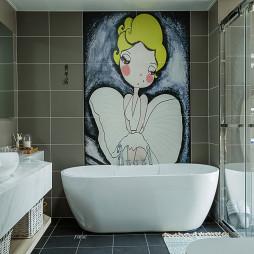 小型混搭风格卫浴装修图片