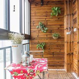 小型混搭风格阳台设计图片