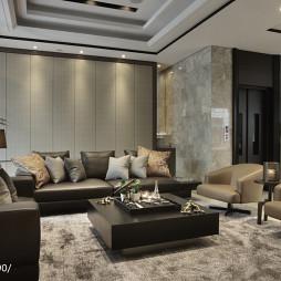 宽敞豪华现代客厅装修图