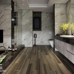 豪华现代风格卫浴设计图