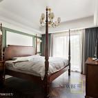 典雅美式卧室设计图