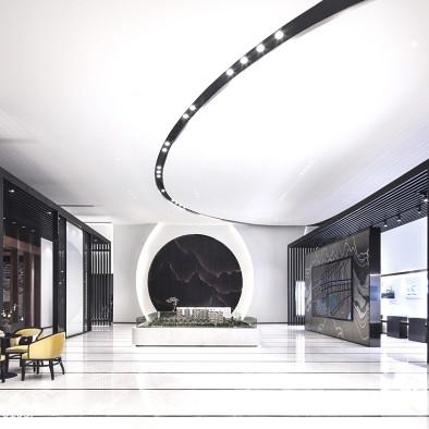 新中式售楼大厅装修效果图