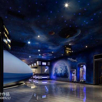 现代时尚主题餐厅走廊设计