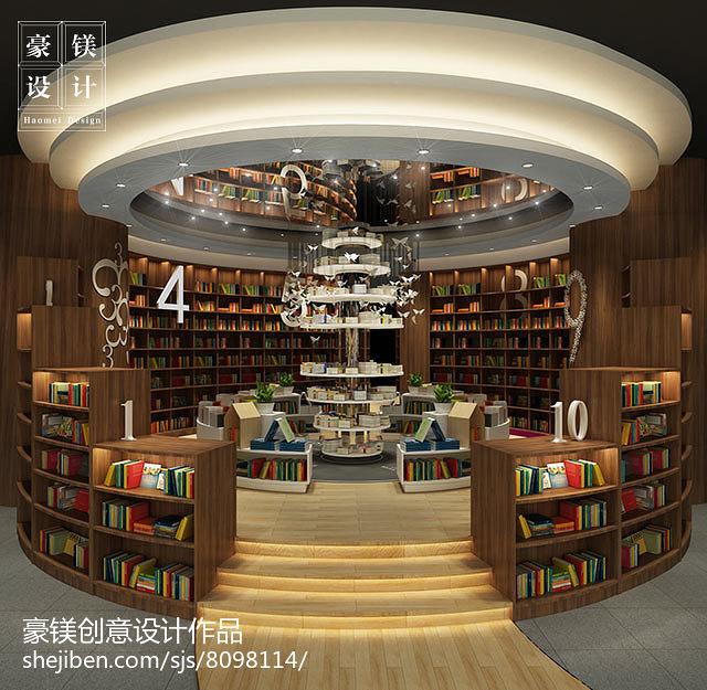 新华书店_文化艺术2000平米装修案例_效果图 - 书店设计 - 设计本