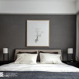 现代卧室床头画设计图