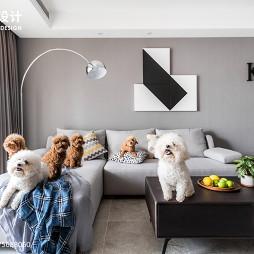 88㎡现代简约客厅小沙发设计图