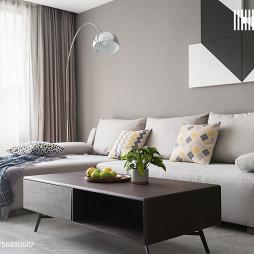 88㎡现代简约客厅组合沙发设计图