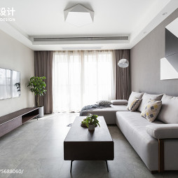 88㎡现代简约小型客厅设计图