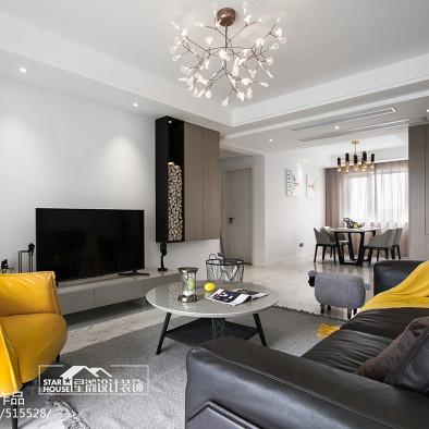 简洁现代风格客厅装修图片