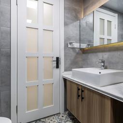 88㎡北欧卫浴装修设计图
