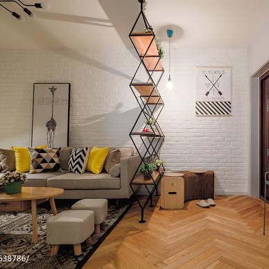 清新木意北欧客厅装修图