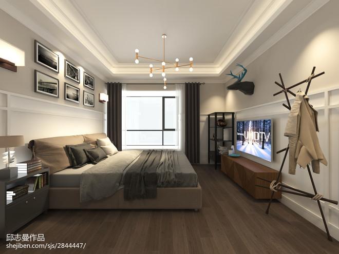 中山现代美式风格样板房_278659
