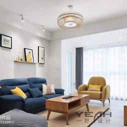 简易混搭客厅设计效果图