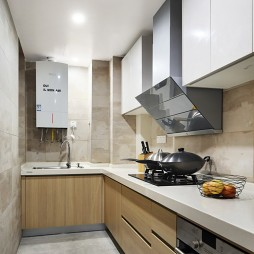 L型混搭风格厨房设计图片