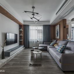 个性现代客厅设计效果图