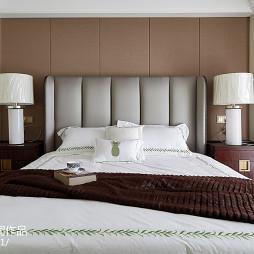 美式三居卧室床头灯设计图