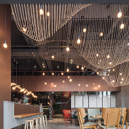 牛牛西厨品牌连锁餐馆就餐区设计图