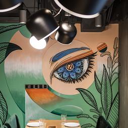 牛牛西厨品牌连锁餐馆壁画设计图