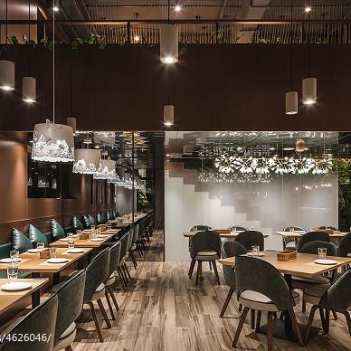 牛牛西厨品牌连锁餐馆就餐区设计图片