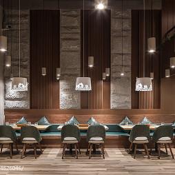 牛牛西厨品牌连锁餐馆就餐区设计效果图