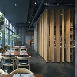 拾光里书吧餐厅餐饮区设计图片