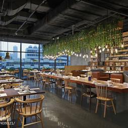 拾光里书吧餐厅开放餐饮区设计图片