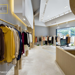 《Jessis . 袺 夕》专卖店衣服展示区设计