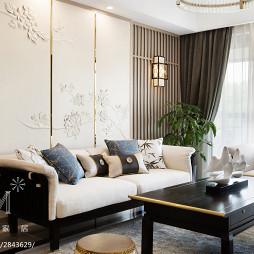 142m²新中式客厅沙发组合设计图