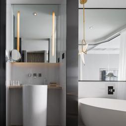 混搭酒店客房卫浴设计图片