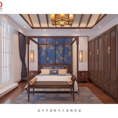 唐山乡居假日别墅改造三层+古典混搭中式_2805570