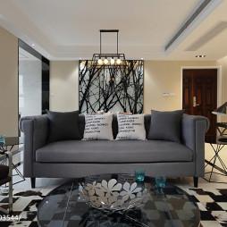 个性简约风格客厅设计图片