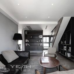 现代客厅书架设计图片