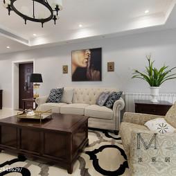 140m2陽光美式客廳沙發組合設計圖