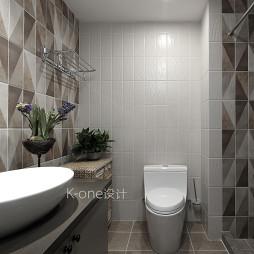 混搭风格别墅小型卫浴设计图