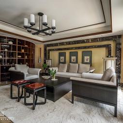 中式别墅会客厅设计图