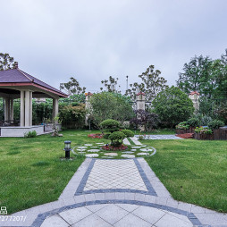 中式别墅花园设计图