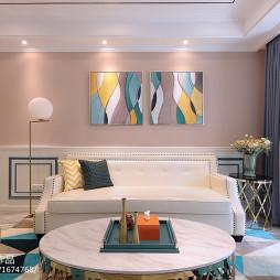 浪漫法式风格客厅设计图
