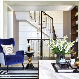 混搭风格样板房楼梯设计图