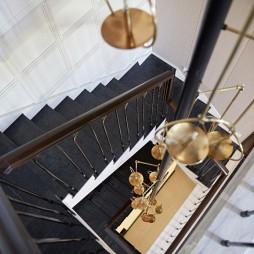 混搭风格样板房楼梯设计图片