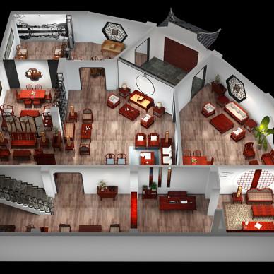 豪门红木展厅设计_2819199