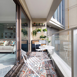 89㎡别致公寓风阳台设计图