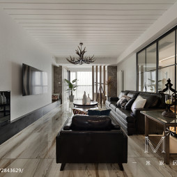 192m²美式客厅设计效果图